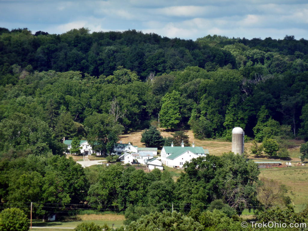 Viewing The House And Barn Of Malabar Farm From A Hilltop On Property