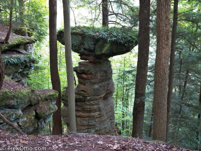 Balanced Rock - created by differential erosion