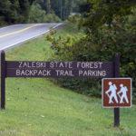 Zaleski Backpack Trail parking off of US-278