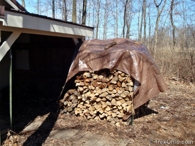 Firewood to fuel the evaporator