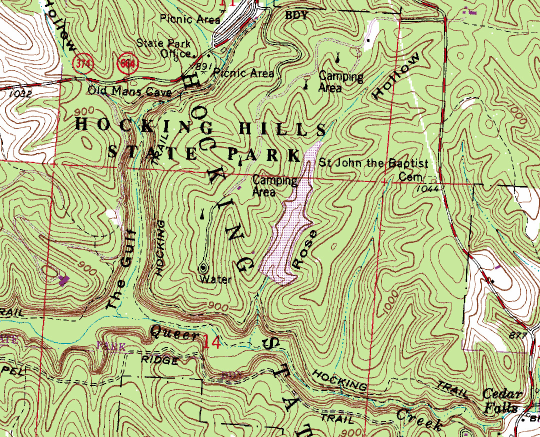 Topography Map Of Ohio.Acquiring Ohio Topographic Maps Trekohio