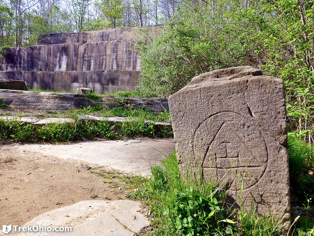 Deep lock quarry metro park trekohio trail mysterious symbol on the stone in the foreground buycottarizona Image collections