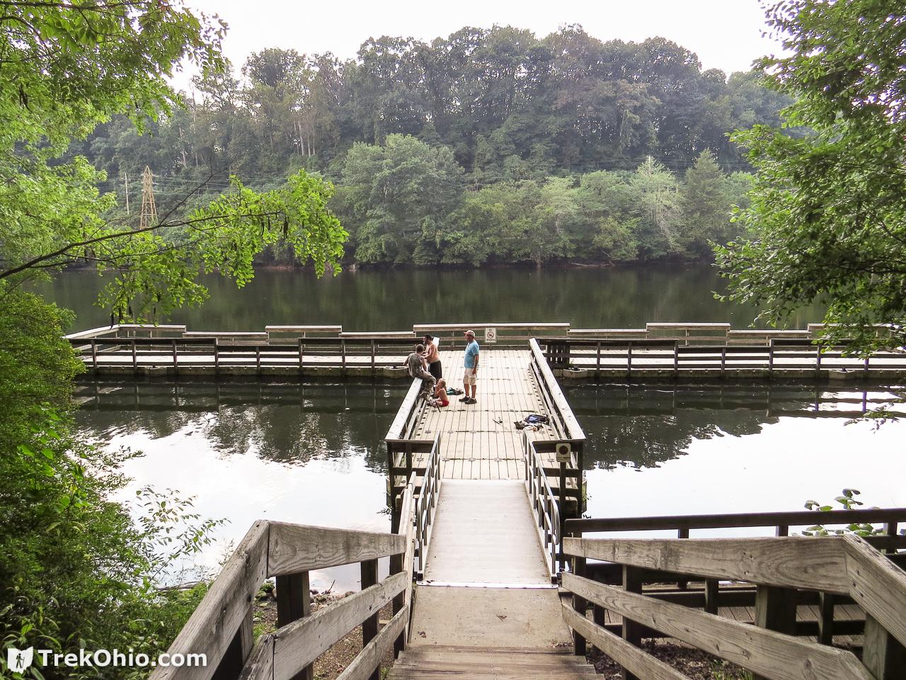 Gorge metro park trekohio for Fishing docks near me