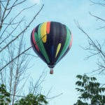 Hot-air balloon over the trail