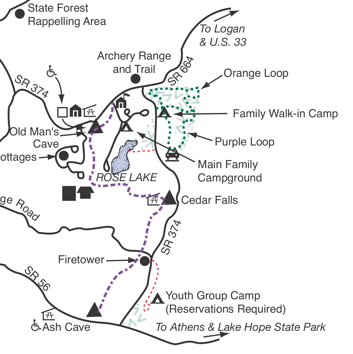 map of hocking hills state park with Rose Lake on Restaurant Review G50566 D4592379 Reviews Hocking Hills Dining Lodge Logan Ohio furthermore Hocking Hills Photos Old Mans Cave furthermore The Lower Falls And Broken Rock Falls At Old Mans Cave besides Rose Lake in addition Autumn Allure.