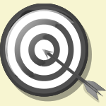 clipart archery (monochrome)